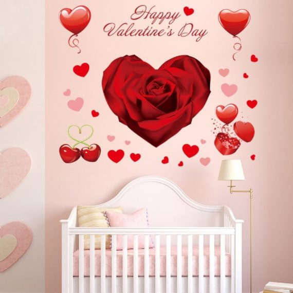 140-Pcs-ValentineS-Day-Window-Clings-Heart-Stickers-Wall-Decal-Party-Decoration-0
