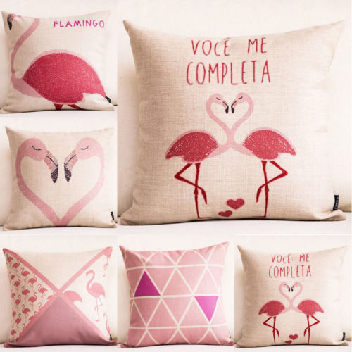 18-Valentines-Day-Flamingo-Cotton-Linen-Pillow-case-Home-Decor-Cushion-cover-0