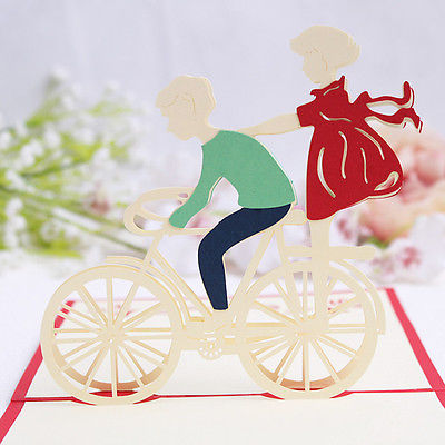 3D-Handmade-Pop-Up-Greeting-Card-Invitation-Valentines-Day-Cycling-Lover-Gift-0