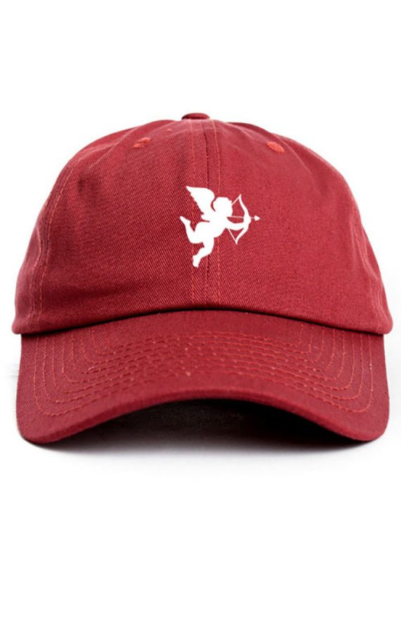 Cupid-Valentines-Day-Custom-Unstructured-Cardinal-Red-Dad-Hat-Cap-New-0