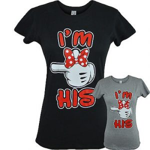 a4bf188070 Im His Womens Matching Couples T Shirts Valentines Day Girlfriend Boyfriend  Tee
