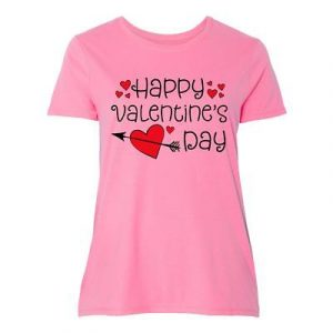 5d584c29d56 Inktastic Happy Valentines Day Red Hearts And Arrow Women s Plus Size T- Shirt My
