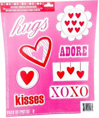 9fc434ae19196 Valentines Day Window Clings
