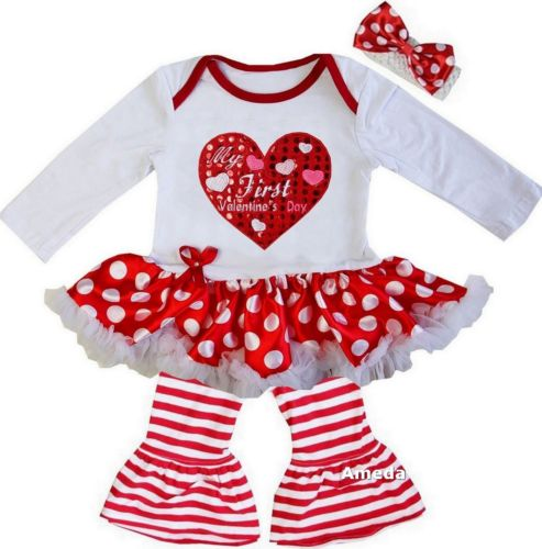 inktastic Valentines Day Fire Truck with Hearts Infant Tutu Bodysuit